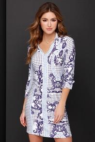 I. Madeline Diamond Nights Ivory Print Dress at Lulus.com!