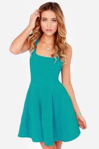 Home Before Daylight Teal Dress