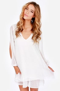 Lucy Love Tallulah White Shift Dress