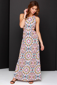 Billabong Hold On Me Multi Print Maxi Dress at Lulus.com!