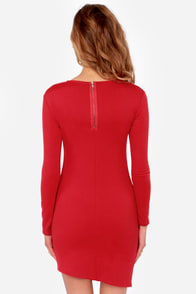 LULUS Exclusive All the Angles Red Dress at Lulus.com!