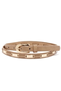 Fasten Style Taupe Belt at Lulus.com!