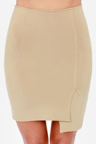 To the Letter Taupe Envelope Skirt at Lulus.com!