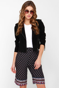 Glamorous Four Day Weekend Print Culottes at Lulus.com!
