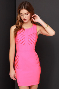 Heatin' Up Hot Pink Dress at Lulus.com!
