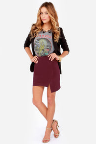 To the Letter Burgundy Envelope Skirt at Lulus.com!