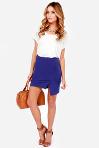 To the Letter Royal Blue Envelope Skirt at Lulus.com!