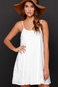 Time of Our Lives Ivory Lace Dress at Lulus.com!