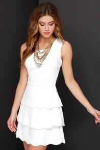 Terms of En-Tier-ment Ivory Dress at Lulus.com!