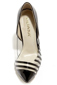Liliana Olga 2 Black and Lucite Pointed Pumps at Lulus.com!