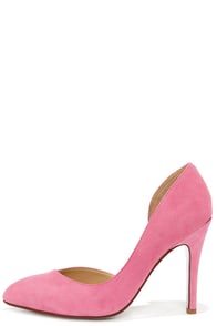 Chinese Laundry Copertina Pink Kid Suede D'Orsay Heels at Lulus.com!