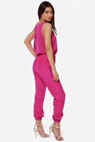 Goodnight Sweetheart Fuchsia Jumpsuit at Lulus.com!