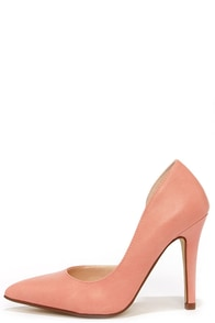 My Delicious Mitten Light Salmon Pink D'Orsay Pumps at Lulus.com!