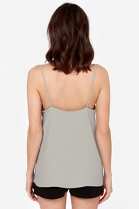 Camisole You Need Light Grey Tank Top at Lulus.com!