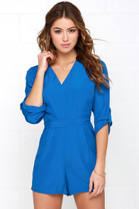 Jack by BB Dakota Luther Blue Romper at Lulus.com!