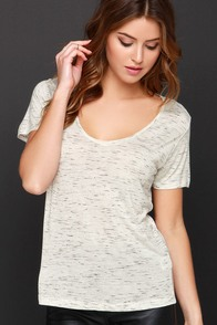 You're So Dashing Black and Cream Print Tee at Lulus.com!