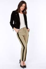 LULUS Exclusive Places to Be Black and Taupe Pants at Lulus.com!