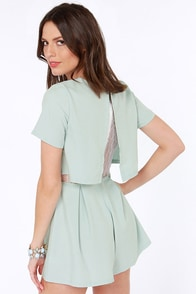 Tier We Go Again Light Blue Romper at Lulus.com!