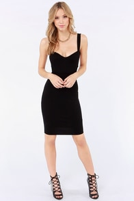 Set a Strap Bodycon Black Dress at Lulus.com!