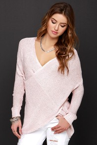 Over and Wonder Blush Pink Sweater at Lulus.com!