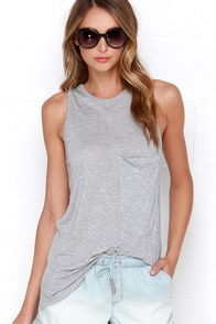 Tank on Me Heather Grey Tank Top at Lulus.com!