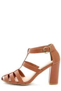 Bamboo Kendria 04 Chestnut High Heel Sandals