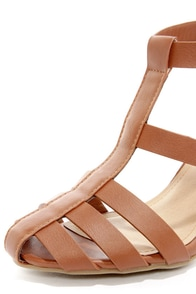 Bamboo Kendria 04 Chestnut High Heel Sandals at Lulus.com!