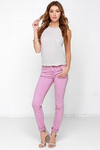 Stole My Heart Orchid Purple Skinny Jeans at Lulus.com!