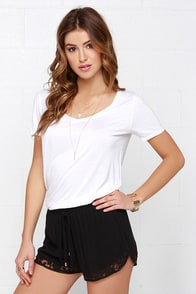 All in One Lace Black Lace Shorts at Lulus.com!