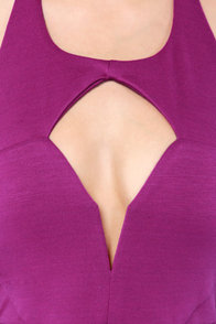 After Hours Bright Purple Halter Dress at Lulus.com!