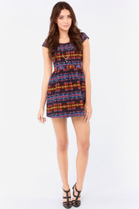 Huntingbird Cabin Fever Southwest Print Dress at Lulus.com!