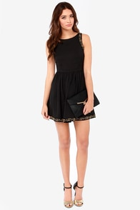 Ladakh Gala Crepe Beaded Black Dress at Lulus.com!