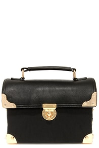 Treasure Trove Black Handbag at Lulus.com!