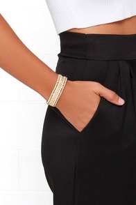 Middle of Nowhere Beige and Gold Bracelet at Lulus.com!