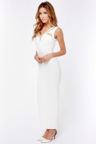 LULUS Exclusive Earth Angel Cutout Ivory Maxi Dress at Lulus.com!