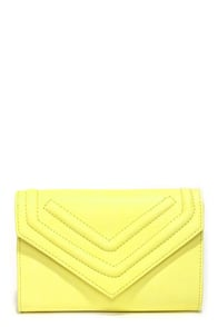 Point and Shoot Lemon Yellow Clutch at Lulus.com!