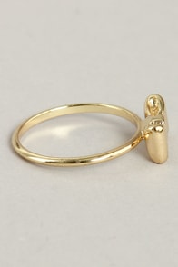 More Than You Bow Gold Knuckle Ring at Lulus.com!