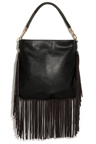 Fringe Culture Black Handbag at Lulus.com!