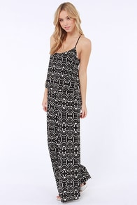 Twists and Turns Ivory and Black Print Jumpsuit at Lulus.com!