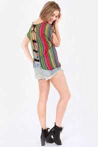 Golly Geometry Multicolor Print Top at Lulus.com!
