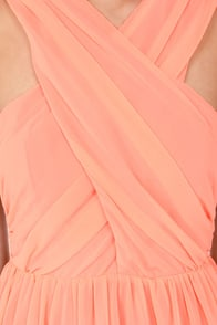 Keepsake Heartlines Bright Peach Dress at Lulus.com!
