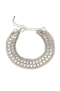 Dragon's Layer Silver Chain Bracelet at Lulus.com!