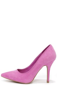 Wild Diva Lounge Lovisa 01 Orchid Purple Suede Pointed Pumps at Lulus.com!