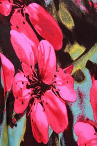 BB Dakota Lithia Pink Floral Print Maxi Skirt