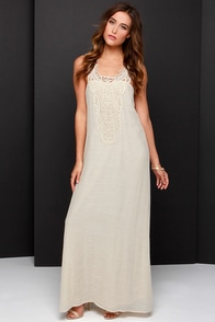 Roam with You Cream Lace Maxi Dress at Lulus.com!