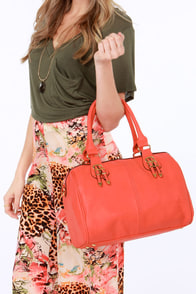 Bag of Tricks Coral Handbag at Lulus.com!