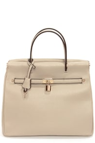 Under Lock and Key Taupe Purse at Lulus.com!