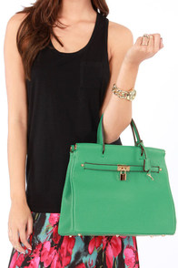 Under Lock and Key Sea Green Purse at Lulus.com!