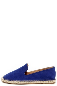 Flat-Out Adorable Blue Espadrille Flats at Lulus.com!