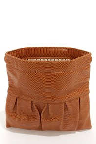 Python My Way Tan Snakeskin Clutch by Urban Expressions at Lulus.com!